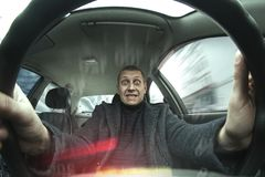 Drive at maximum speed Royalty Free Stock Image