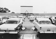DRIVE-IN MOVIE Royalty Free Stock Image
