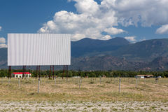 Drive in movie theater in Buena Vista CO. Traditional american drive in cinema or theater in Buena Vista Colorado that still shows movies several nights a week Royalty Free Stock Photography
