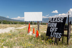 Drive in movie theater in Buena Vista CO Stock Image