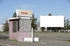 Drive in Movies. An old drive in movie screen for your text or image Royalty Free Stock Images
