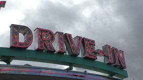 Drive in neon sign 4K stock footage