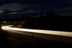 Drive through the night Royalty Free Stock Images