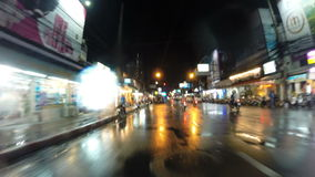 Drive through Pattaya stock video footage