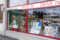 Drive in Pharmacy Royalty Free Stock Images