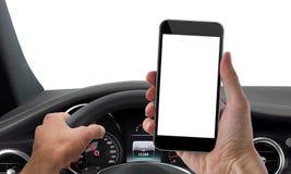 Drive phone mockup isolated Royalty Free Stock Photo