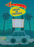 Drive In Poster Royalty Free Stock Photo