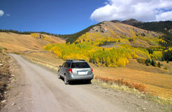 Drive in Rocky mountains Royalty Free Stock Photography
