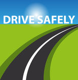 Drive safe background Royalty Free Stock Photo