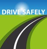 Drive safe background. Illustration Royalty Free Stock Photo
