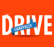 Drive safe and carefully icon/ safe driving concept Stock Photo