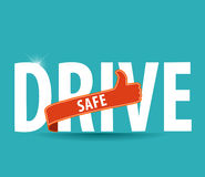 Drive safe and stay alive icon or symbol Royalty Free Stock Images