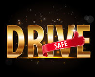 Drive safe and stay alive icon or symbol - safe driving concept Stock Photos