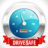 Drive safe and stay alive icon or symbol - safe driving concept vector Stock Photography