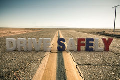 Drive safely sign Stock Photography