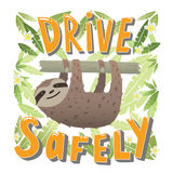 Drive safely - unique hand drawn lettering. Stock Photos