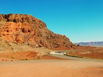 Drive through scenic landscape of Marble Canyon Royalty Free Stock Images