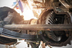 Drive shaft of the car Royalty Free Stock Photo