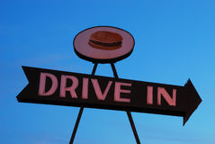 Drive In Sign Royalty Free Stock Images