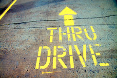 Drive Through Sign Stock Photography