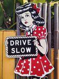 Drive slow sign Royalty Free Stock Photo