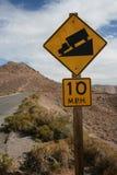 Drive slow sign Stock Photos