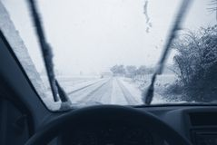 Drive on the snow Royalty Free Stock Photography
