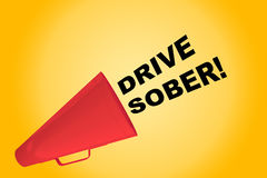 Drive Sober! concept Royalty Free Stock Image