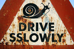 Drive Sslowly Royalty Free Stock Photo