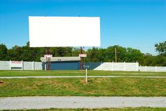 Drive In Theater. On a summer day Royalty Free Stock Photography