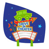 Drive In Theater Sign Stock Photography