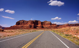 Drive Through Glen Canyon Stock Photo