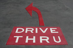 Drive Thru Royalty Free Stock Image