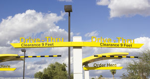 Drive-Thru Royalty Free Stock Images