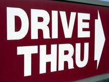 Drive Thru. Sign Stock Photos
