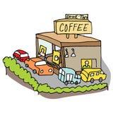 Drive-thru coffee shop Royalty Free Stock Photos