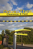 Drive Thru at Mcdonald's. Seen against cloudy sky Stock Images