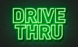 Drive thru neon sign Royalty Free Stock Photography