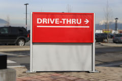 Drive thru road sign Stock Images