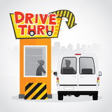 Drive thru Royalty Free Stock Photos