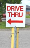 Drive thru sign Stock Photo