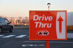 Drive-thru sign Stock Images