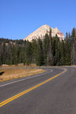 Drive to Beartooth highway Stock Image