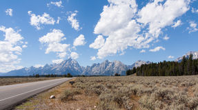 Drive to the Grand Tetons Royalty Free Stock Photo