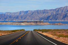 Drive to Lake Mead Royalty Free Stock Photography