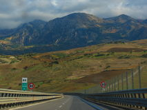The drive to Palermo Royalty Free Stock Photos