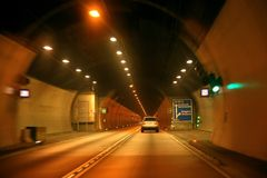Drive in tunnel stock image
