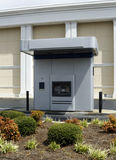 Drive-up ATM Machine Beside A Bank stock images