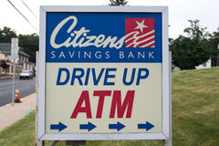 Drive up ATM sign Stock Photo