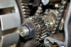 Motorcycle engine inside. Royalty Free Stock Image
